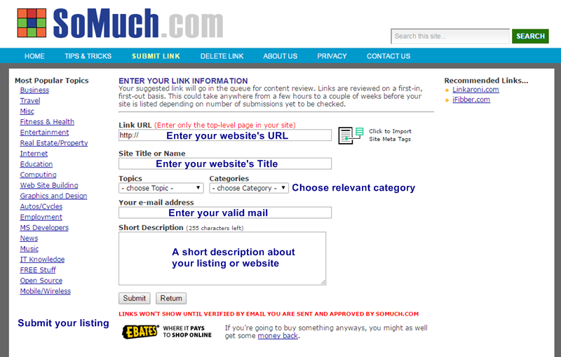 How to submit website to web directory - Thakur Blogger