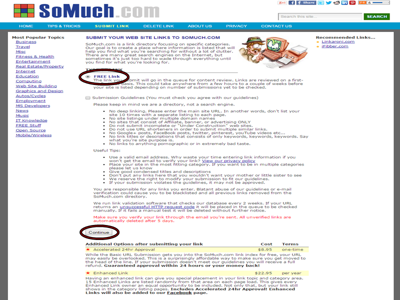 Somuch free directory submission - thakur blogger