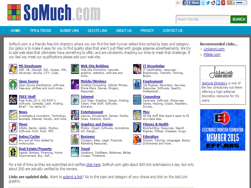 Web directory site home page - Thakur blogger