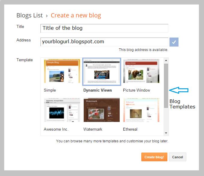 Creating a blog on blogger | Thakur Blogger
