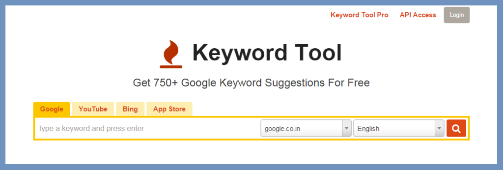 Keyword tool.io keyword Research tool | Thakur Blogger