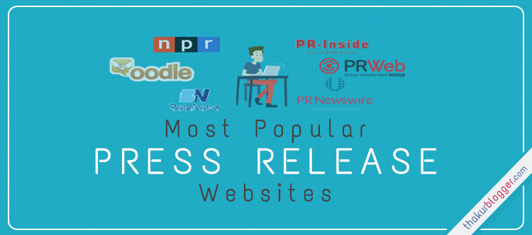 Best websites list for Press Release | Thakur Blogger