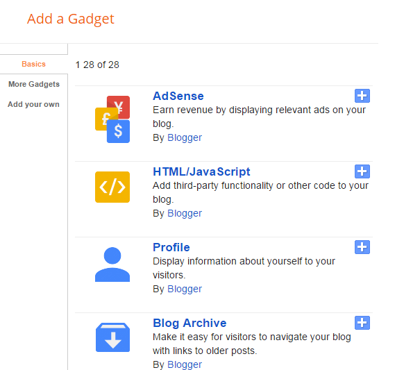 Add widget to blogger | Thakur Blogger
