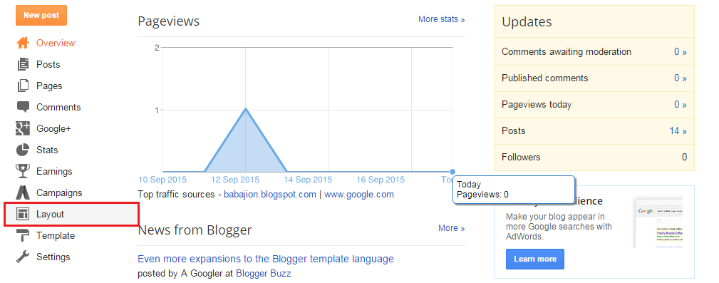 Blogger Dashboard - Layout| Add widget to blogger | Thakur Blogger