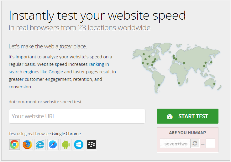 Dotcom web speed test tool | Thakur Blogger