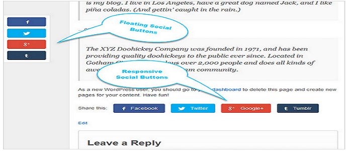 Responsive share icon wordpress plugin | Thakur Blogger