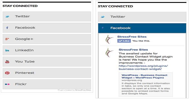 Social Media Badge widget wordpress plugin | Thakur Blogger