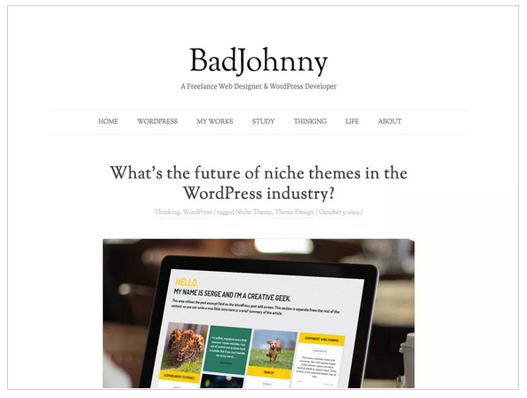 Badjohnny free wordpress templates - Blogging themes | Thakur Blogger