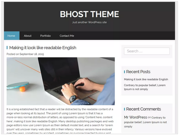 Bhost free wordpress templates - blogging themes | Thakur Blogger