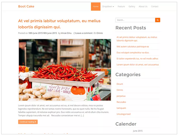 Bootcake free wordpress templates - blogging themes | Thakur Blogger