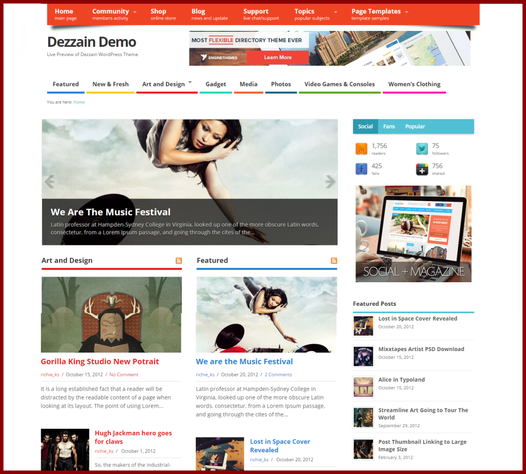 MesoColumn free wordpress blog themes - blogging themes | Thakur Blogger