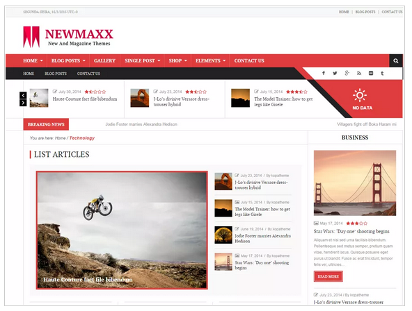 NewsMix - lite free wordpress templates - Blogging themes | Thakur Blogger