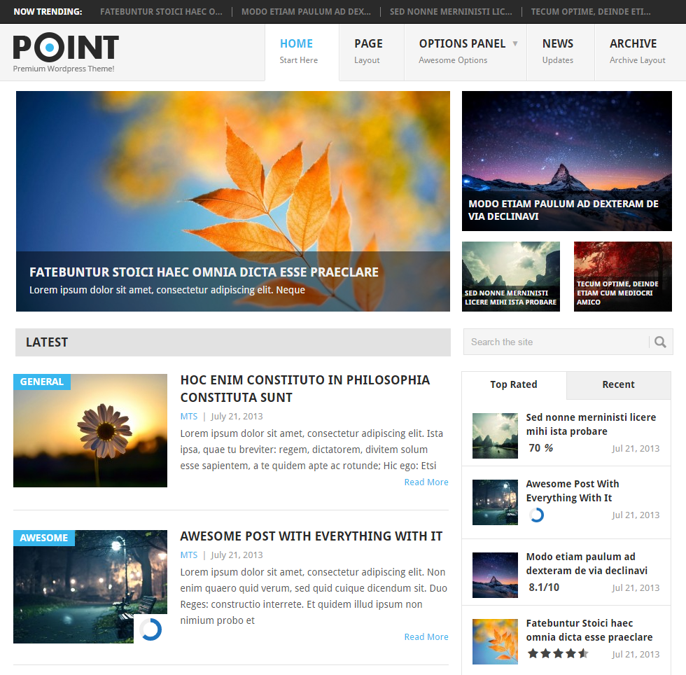 Point Free WordPress Blog Themes - blogging themes | Thakur Blogger