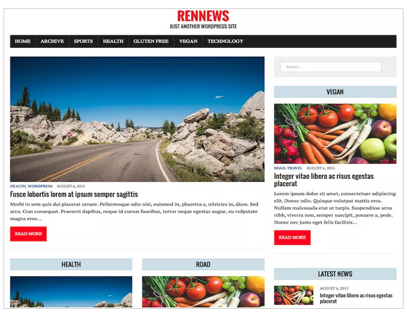 RenNews Child free wordpress templates - blogging themes | Thakur Blogger