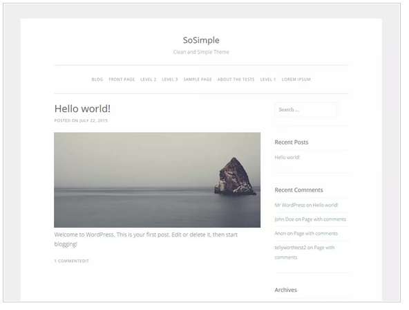 SoSimple free wordpress templates - Blogging themes | Thakur Blogger