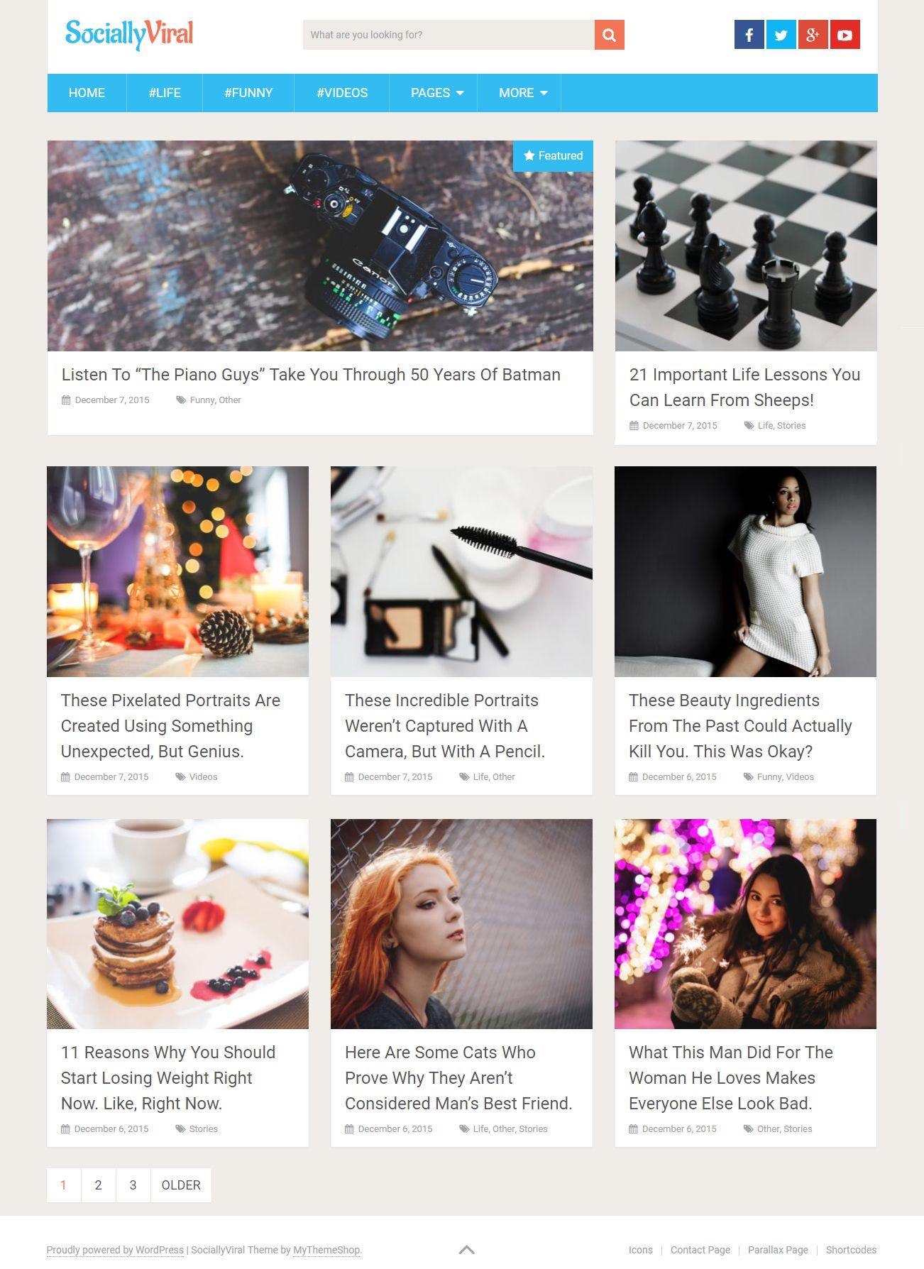 Social Viral MyThemeShop Free WordPress Blog Theme