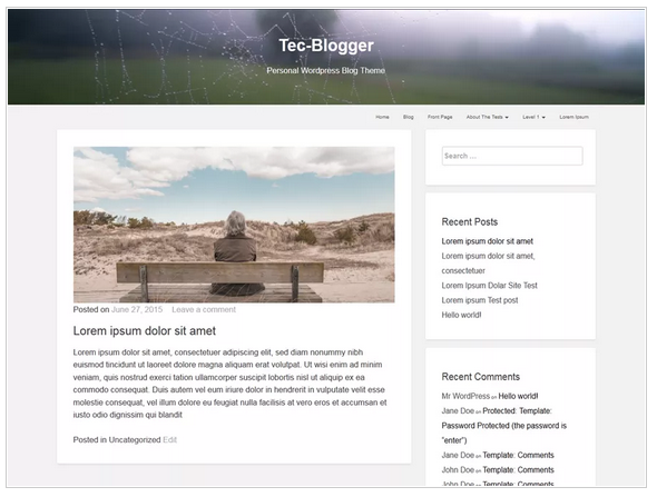Tec blogger free wordpress templates - Blogging themes | Thakur Blogger