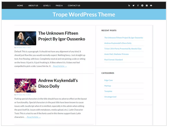 Trope free wordpress templates - blogging themes | Thakur Blogger