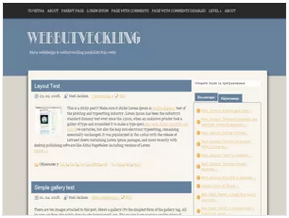 Webbutveckling responsive wordpress blogging themes - Download FREE