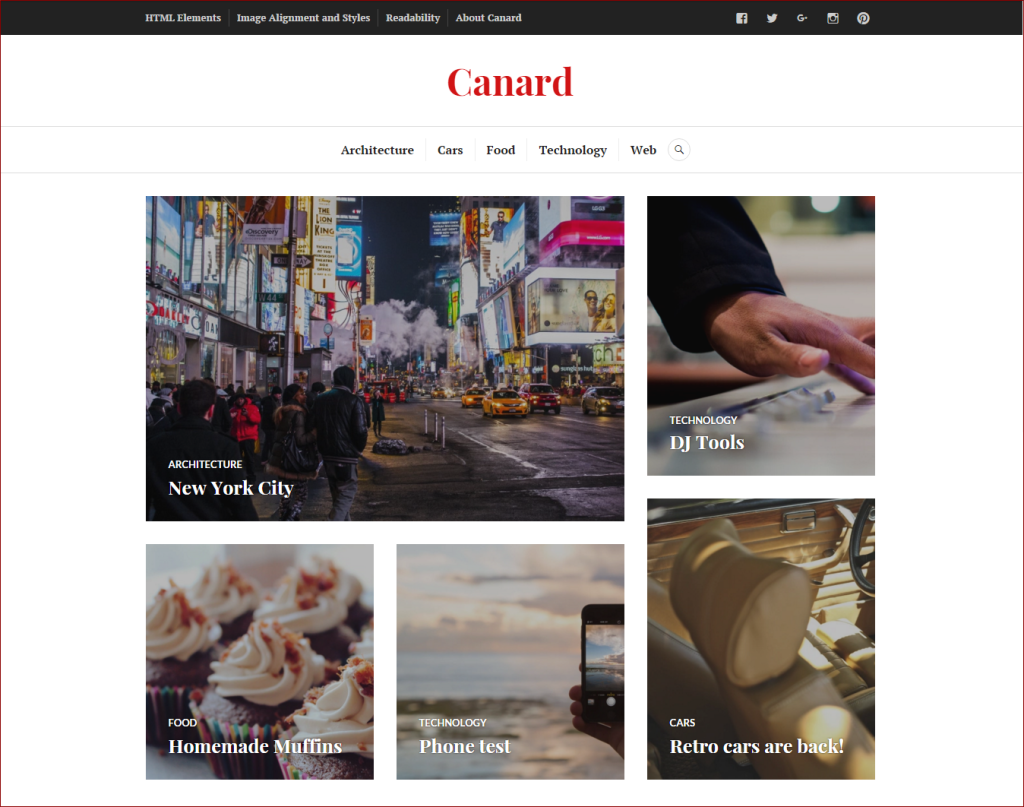 Canard wordpress theme | Thakur Blogger