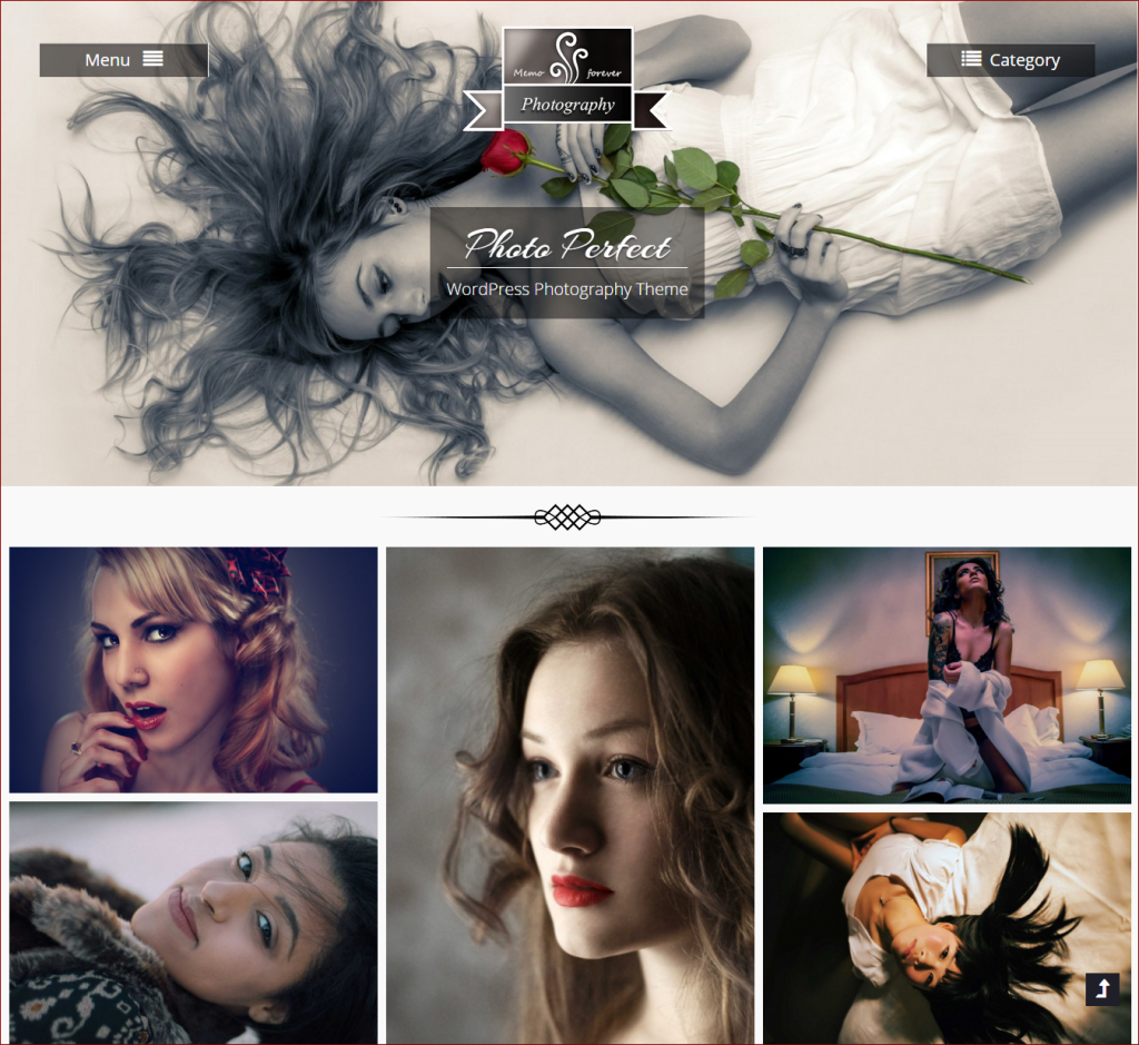 Photo Perfect theme | wordpress templates for photographers | Thakur Blogger
