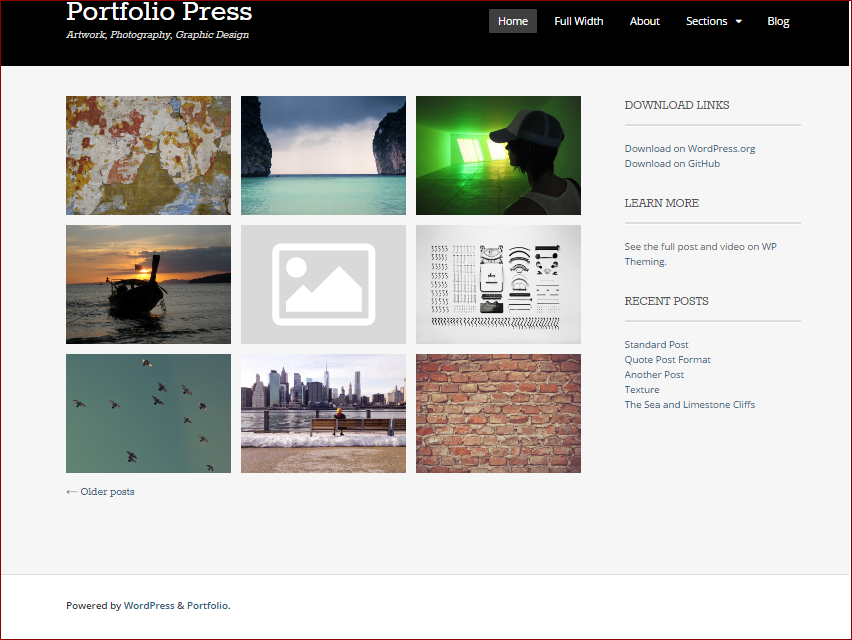 Portfolio Press theme - wordpress templates for photographers  | Thakur Blogger