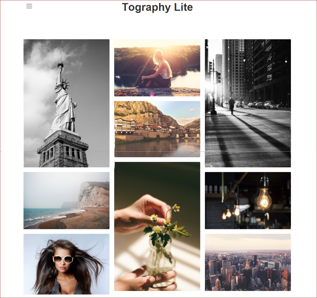 Tography Lite wordpress theme for photographers |Thakur Blogger