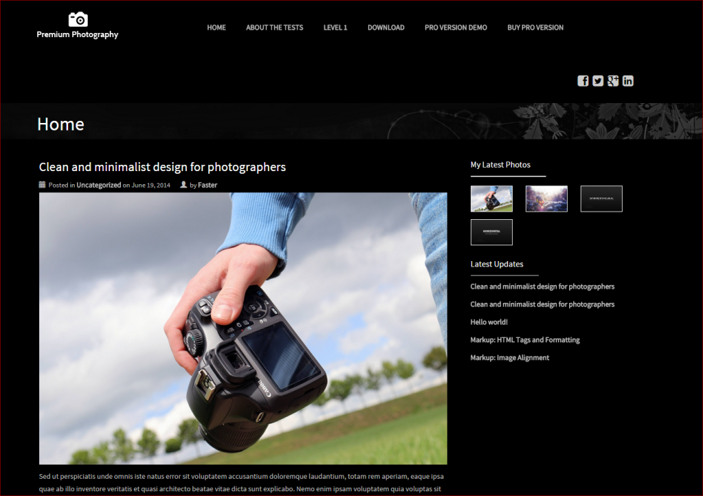 premium photography theme - wordpress templates for photographers | Thakur Blogger