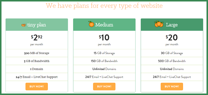 A Small orange shared web hosting plans -  Thakur Blogger