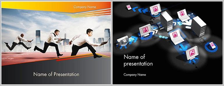 PPT Star - PowerPoint template design for computer - Thakur Blogger