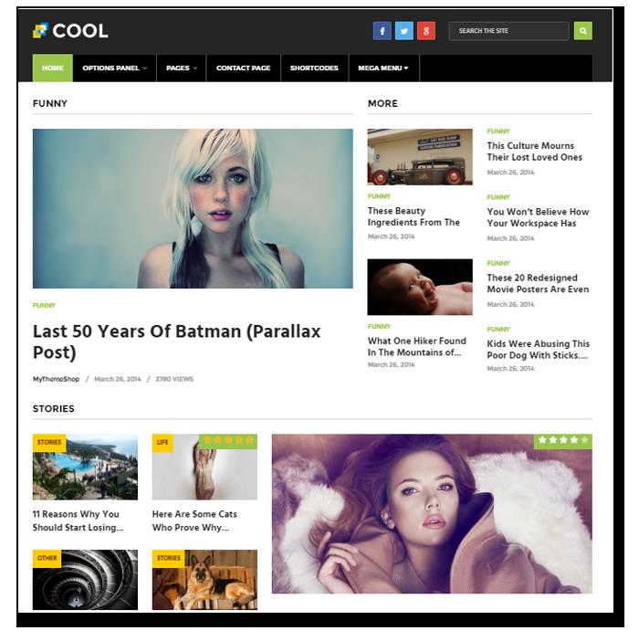 Cool wordpress theme - Thakur Blogger