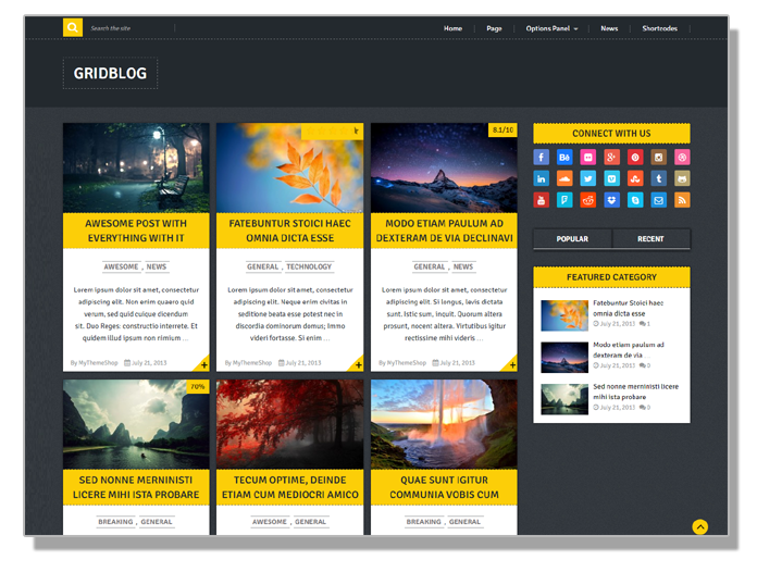 Gridblog free wordpress template for bloggers 2016 - Thakur Blogger