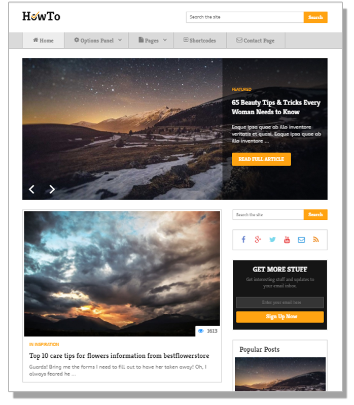 How to WordPress blog  themes