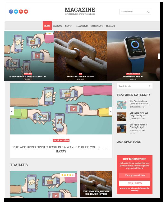 Magazine wordpress blogging themeplate - Thakur Blogger