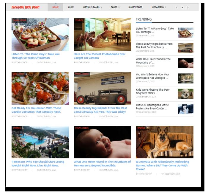 blogging viral theme for wordpress - Thakur Blogger
