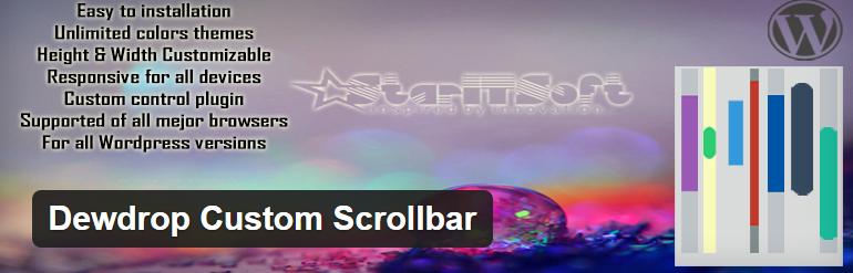 Dewdrop Custom Scrollar WordPress plugin to customize scrollbar design - Thakur Blogger