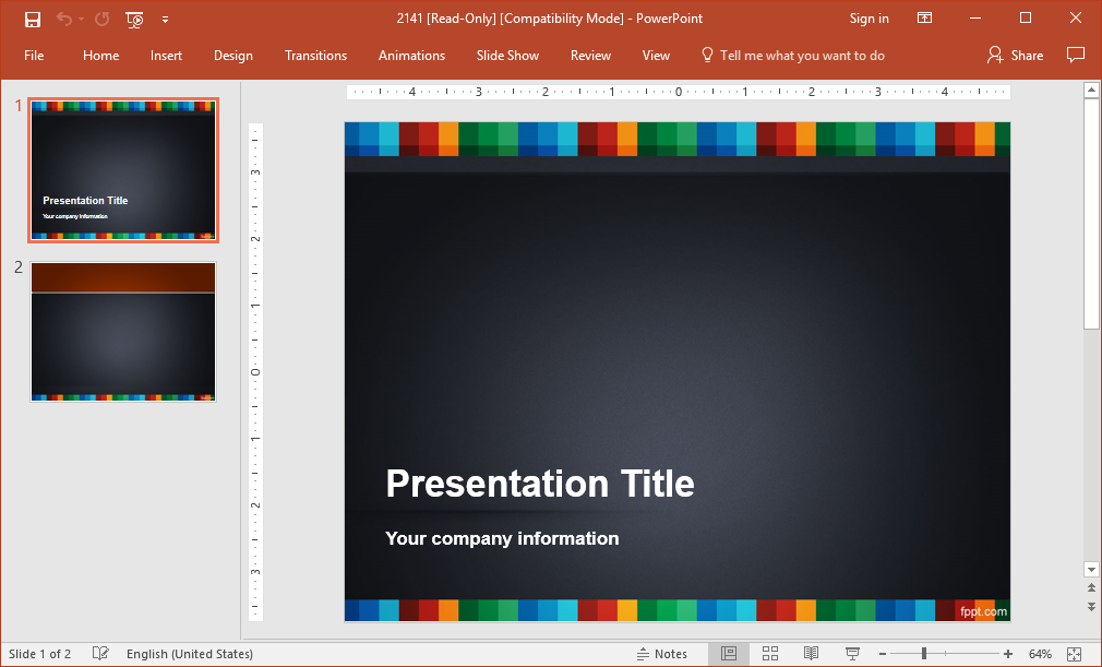Colorful vivid powerpoint background