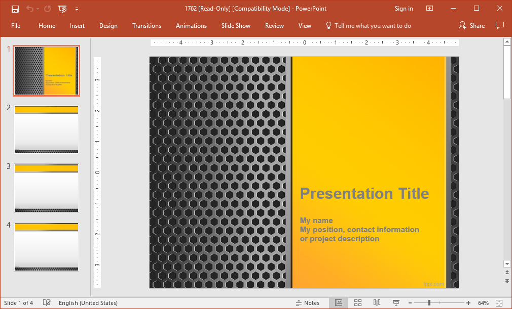 Iron Mesh Powerpoint Template