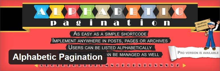 Alphabetic Pagination - How to Add Page Navigation with WordPress Plugin