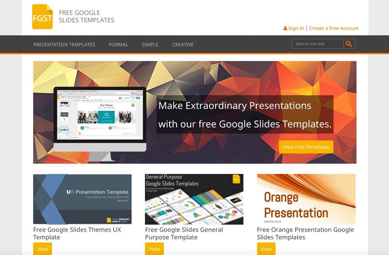 Free Google Slides Homepage - Thakur Blogger
