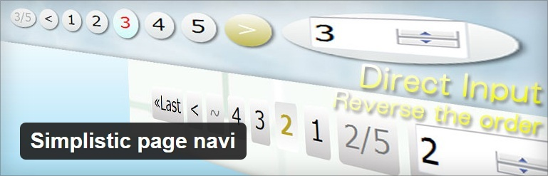 Simplisitic Page Navi Worpress Plugin - Thakur Blogger