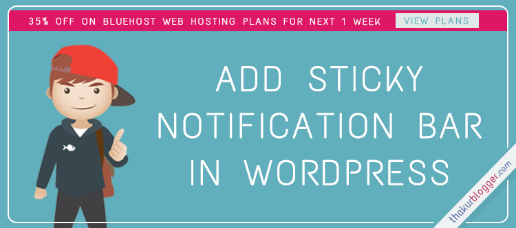 How to Add header notification bar in wordpress with WP Front Notification Bar