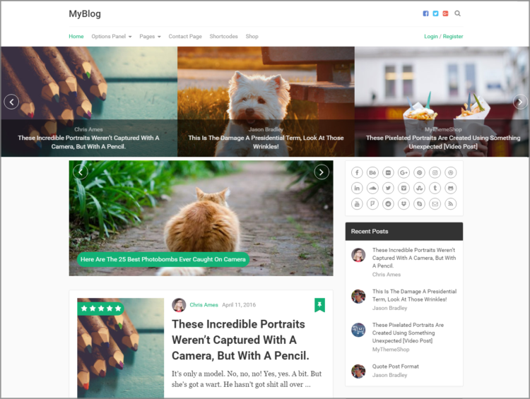 MyBlog - Blogging theme wordpress