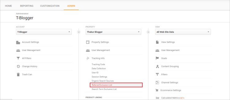 Referral exlusion list - Spam referral Google Analytics