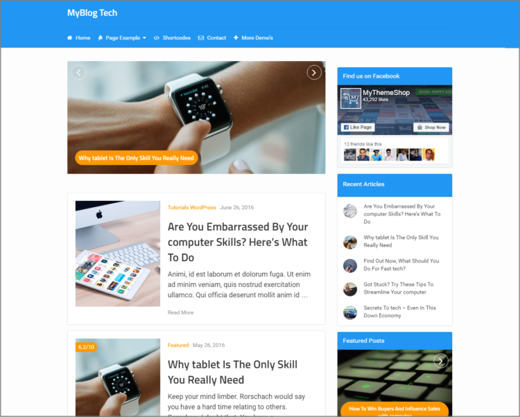 Tech Blog WordPress theme - My blog