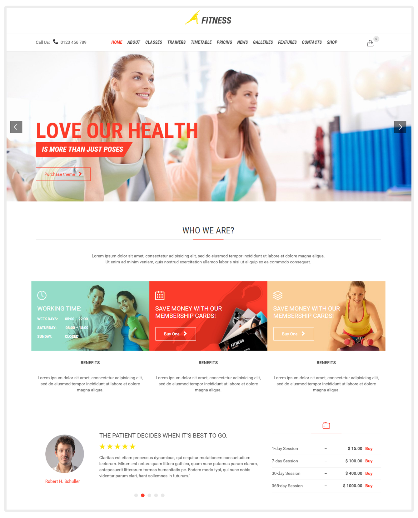 Fitness Sport Gym Theme - WordPress Fitness Theme