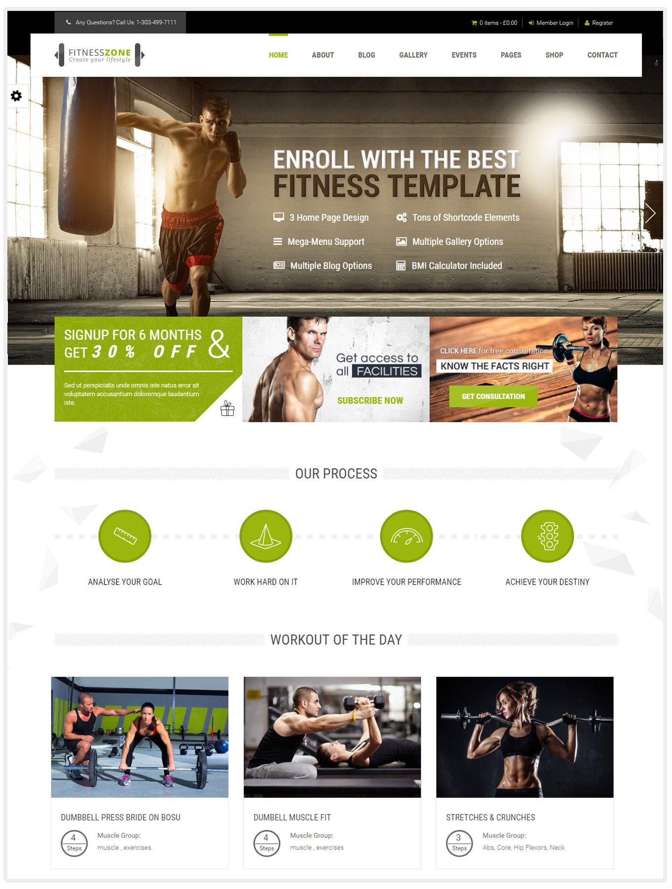 Fitness Zone - Fitness WordPress themes