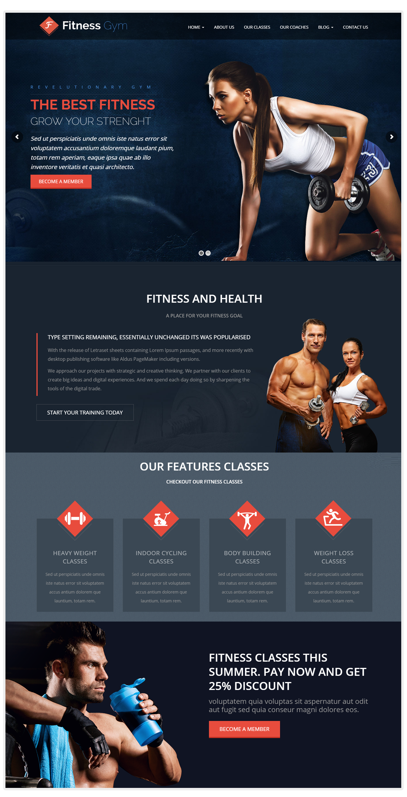 Fitness and yoga wordpress themes