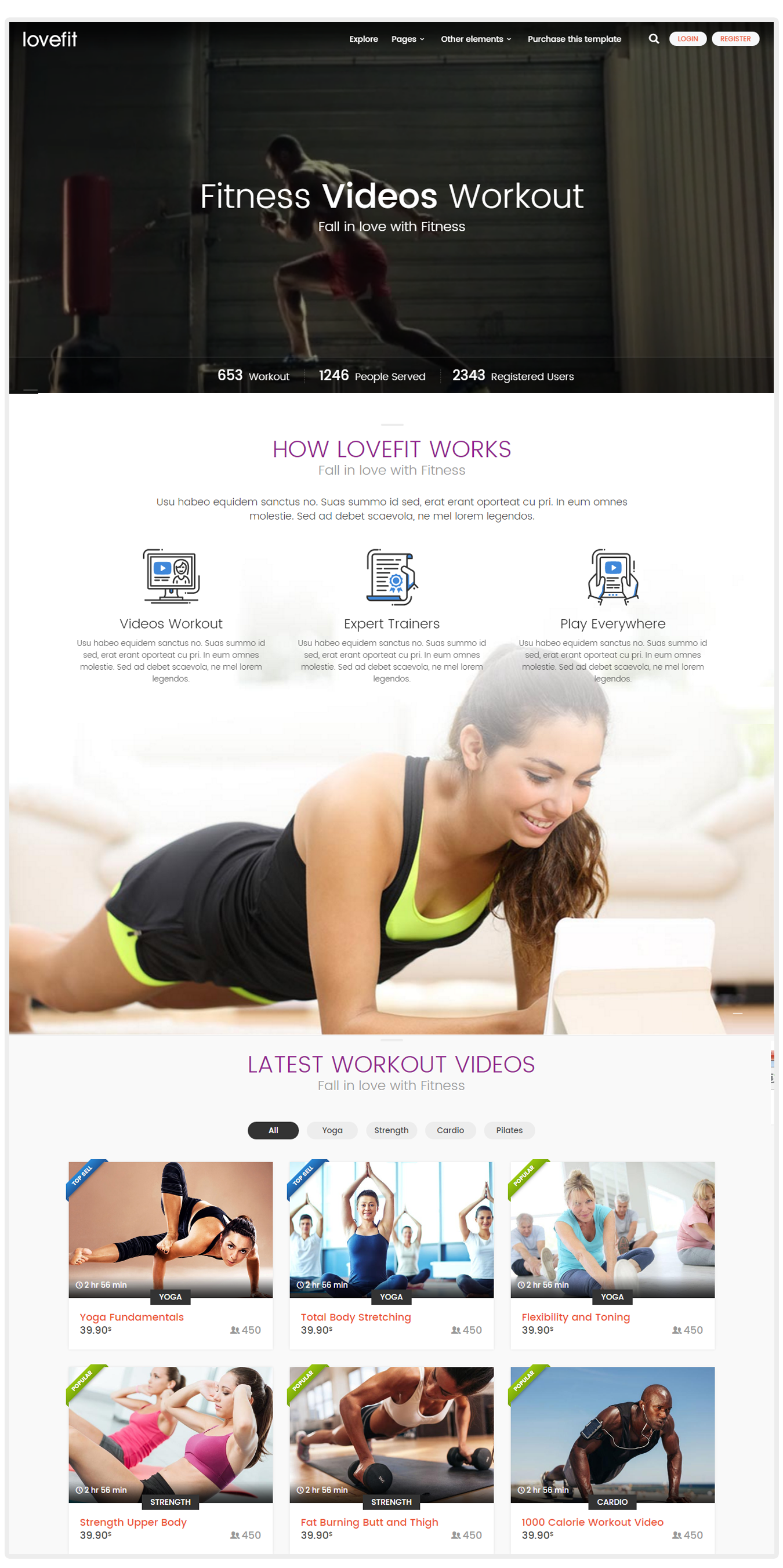 Loveit- Fitness video training wordpress theme