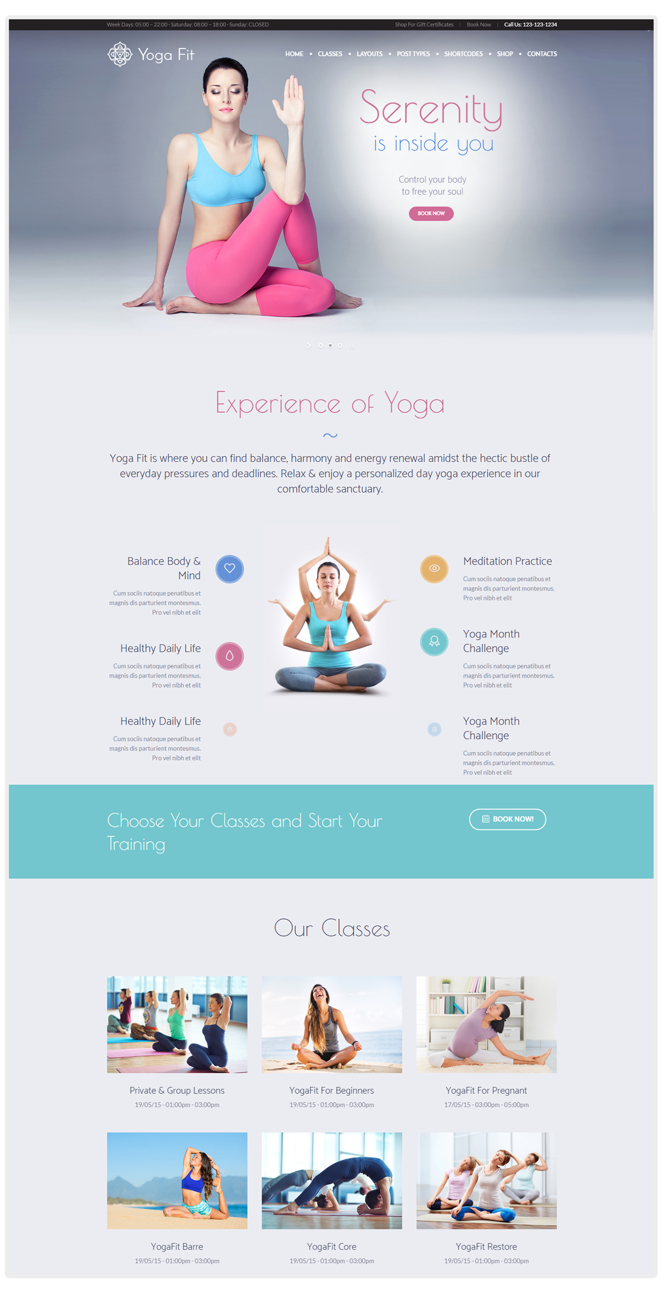 Yoga Fit - best wordpress yoga center theme